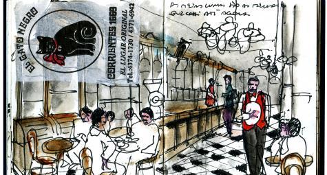 to Aug. 31 | ART EXHIBIT | Urban Sketches by Eduardo Salavisa | São Bento | FREE @ Casa dos Mundos | Lisboa | Lisboa | Portugal