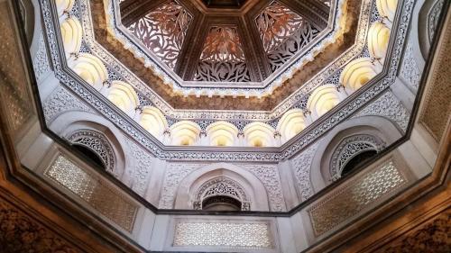 Ceiling of central atrium