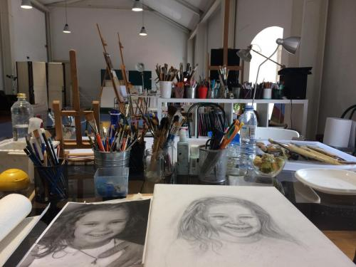 Isabel Mourão's studio
