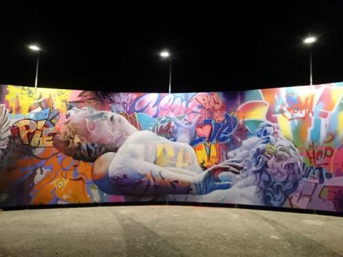 Lisbon street art festival iminente